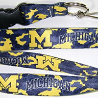 NCAA Michigan Wolverines Officially Licensed Team Color Camo Camouflage Lanyard