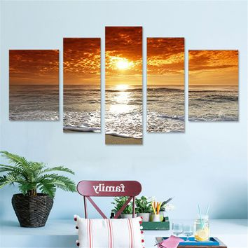 5Pcs Seascape Canvas Painting Framed/Unframed Wall Art Bedroom Living Room Home Decor