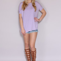 Piko Top Short Sleeve  -Lavender
