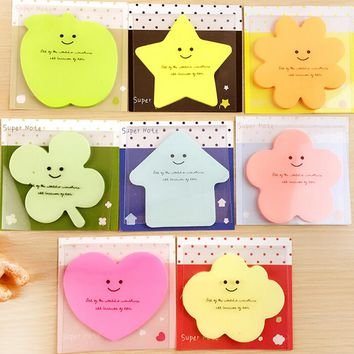 Random Type Cute and Kawai Sticky notes Originality Shape pattern Sticker Post It Bookmark Mark Memo Flag Sticky Notes