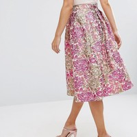 ASOS | ASOS Occasion Prom Skirt in Vintage Floral at ASOS