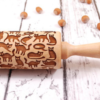 FUNNY CATS – embossing rolling pin