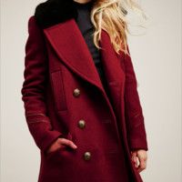 Long Sleeve Double-breasted wool woolen coat