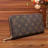 Day-First™ LV Women Zipper Leather Wallet Purse LV pattern I-LLBPFSH