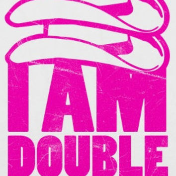 I Am Double Country (American Apparel 50/50 Baseball Tee)