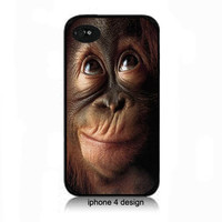 Monkey Face Iphone 4/4s cell phone accessory case, Iphone cover