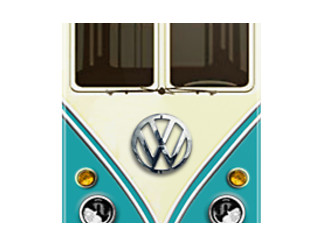 Blue Teal Volkswagen VW with chrome logo iphone 5, iphone 4 4s, iPhone 3Gs, iPod Touch 4g case, Available for T-Shirt man and woman by pointsalestore Corp
