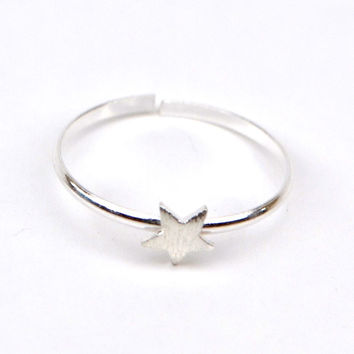 Midi Ring Sterling Silver - Star