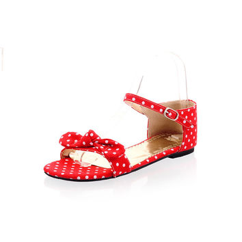 Plus Size Shoes Butterfly Flat Sandals = 5825097217