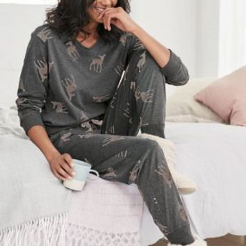 Buy Deer Print Jersey Pyjamas online today at Next: United States of America