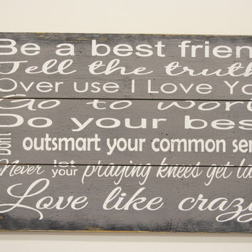 Love Like Crazy Wood Sign Pallet Sign Country Western Sign Western Wedding Sign Western Home Decor Rustic Wood Sign Gray Wall Decor Handmade