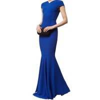 Roland Mouret Valey Fishtail Gown | Harrods