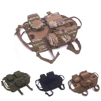 Pet Dog Accessories for Large Dogs Hunting Combat Pet Jacket Outdoor Army Tactical Dog Clothes Suit Vest Training Dogs Coat