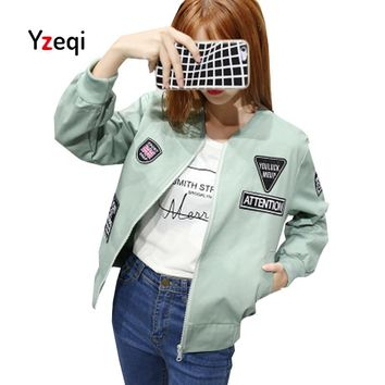 Y Jacket Women 2018 Spring White Basic Jacket Women's Bomber Jacket Fashion Thin Fashion Windbreaker Female Outwear Coat