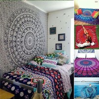 New Hippie Tapestry Bohemian Wall Hanging Bedspread Home Beach Rectangular Scarves