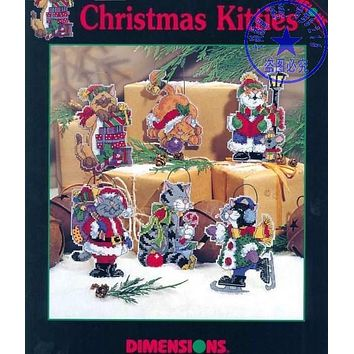 Top Quality Lovely Counted Cross Stitch Kit Christmas Kitties Cats Ornament Christmas Tree Ornaments dim 00339