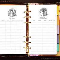 Printable planner inserts personal gift ideas for Kate Spade Wellesley, Kikki K, Filofax, Webster Pages / INSTANT DOWNLOAD