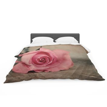 "Angie Turner ""A Touch Of Romance"" Pink Green Featherweight Duvet Cover"