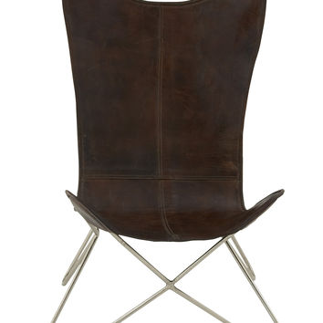 Comfortable & Durable Metal Leather Chair