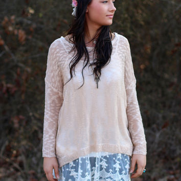 I'm Yours Tunic Sweater {Tan}