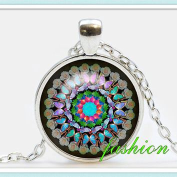 Mandala Pendant Art jewelry New Age Necklace Sacred Geometry Talisman