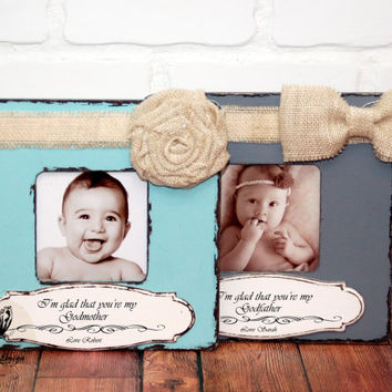 Godmother Godfather Gift Custom Personalized Picture Frame Godparents Gift Christening Frame Baptized Frame Godson Goddaughter Grandparents