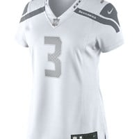 Nike Russell Wilson Jersey Seattle Seahawks  Platinum Women's NFL Football, White