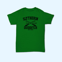 Team Slytherin Quidditch Harry Potter Slytherin House Logo T-Shirt - Gift for friend - Present