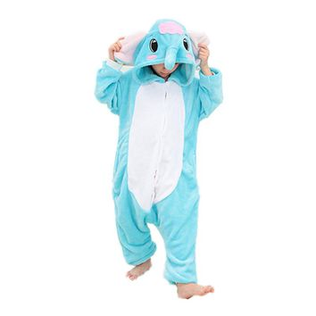 Children Flannel Pajamas Kids Elephant Funny Sleepwear Boys Show Costumes Pijamas Girls Cosplay Pyjamas Animal Onesuits Homewear
