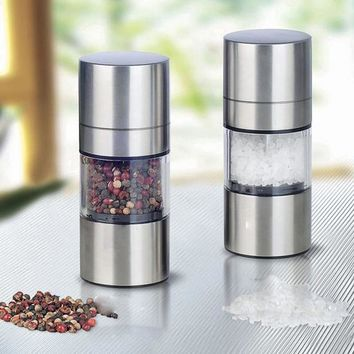 Manual Pepper Mill Stainless Steel Salt and Pepper Grinder Portable Muller for Spice Seasoning Kitchen Tools