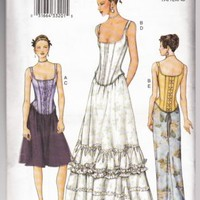 Vogue Dress Pattern 7427 Bride Evening 2pc corset style bodice 3 skirt styles
