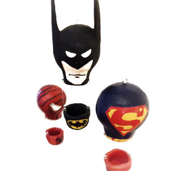 Super Hero Decor, Hot Air Balloon Mobile, Nursery Mobile, Super Hero Mobile, Marvel, Batman Baby, Superman Baby, Baby Mobile, Baby Boy Gift