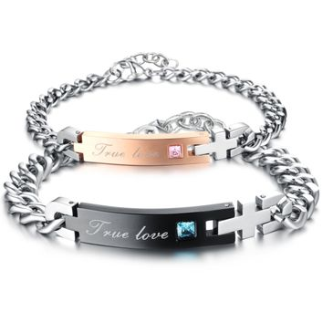 Stainless steel cross bracelet sets