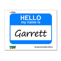 Garrett Hello My Name Is Sticker