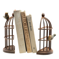 Spi Home Bird Cage Bookends