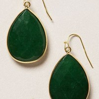 Gold Rung Earrings by Anthropologie Green One Size Earrings