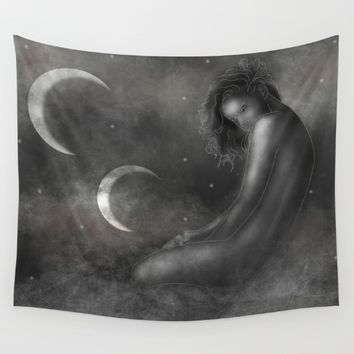 Mother of the Moons Wall Tapestry by Mandi Lynn Prevoteau