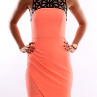Laser Light Dress Coral - Dresses - Shop by Product - Womens