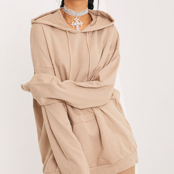 Steph Taupe Oversized Hoodie