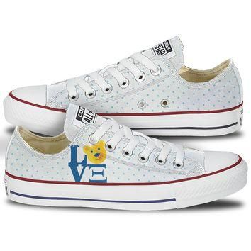 Alpha Xi Delta Love Low Top Custom Converse