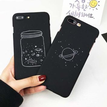 Cute Cartoon Wishing Bottle Planet Moon iPhone Case