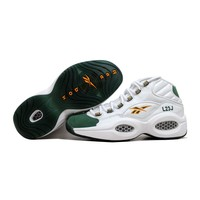 Reebok Question Mid White/Sap Green-Harvest Green Lebron James V53579