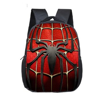 12 Inch New Cartoon Superhero Backpack For Children School Bags Superman Spiderman Batman Kids Kindergarten Backpack Boys Bag