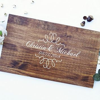 Rustic Wedding Guest Book Alternative Guest Book Wedding Guestbook Alternative Custom Guest Book Wood Guest Book Canvas Wedding Guestbook. Sign #205
