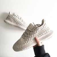 Adidas Tubular Defiant Little coconut 350 Fashion casual shoes