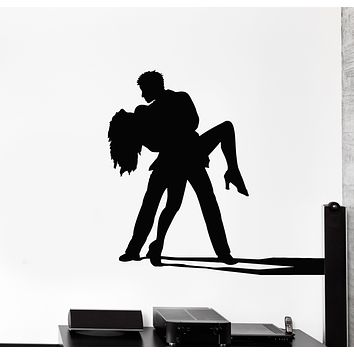 Vinyl Wall Decal Ballroom Dancing Couple Dance Tango Passion Stickers Mural (g930)