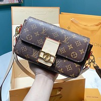 Louis Vuitton LV Popular Women Shopping Bag Leather Crossbody Satchel Shoulder Bag