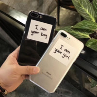 "Fashion letter""I am your……"" plastic Case Cover for Apple iPhone 7 7Plus 6 Plus 6 -05012"