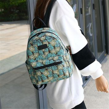 Backpack for School Teenagers Girls Boys Bags Pineapple Printing Travel Mochila