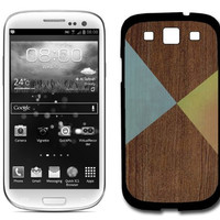 Wooden Triangles Samsung Galaxy S3 SIII i9300 Case Fits Samsung Galaxy S3 SIII i9300